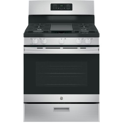 GE STAINLESS STEEL STEAM CLEAN GAS RANGE JCGBS66SEKSS