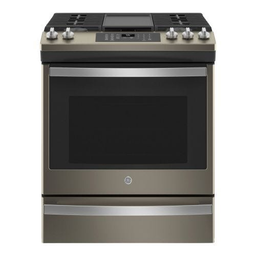GE 5.6 cu ft Slide In Gas Convection Range JCGS760EPES