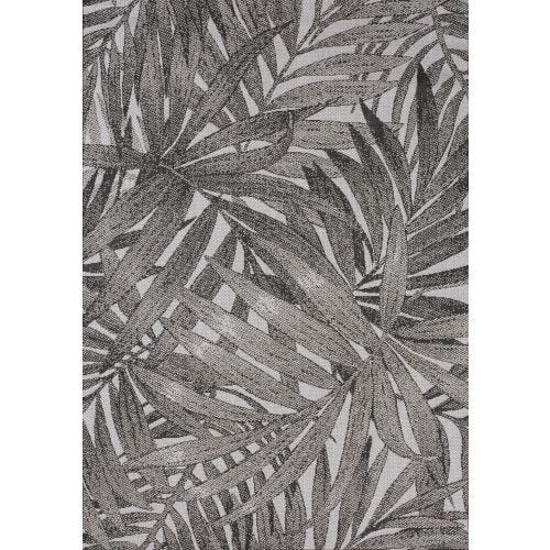 NARRA CHARCOAL LEAF OUTDOOR AREA RUG 5'3 X 7'7