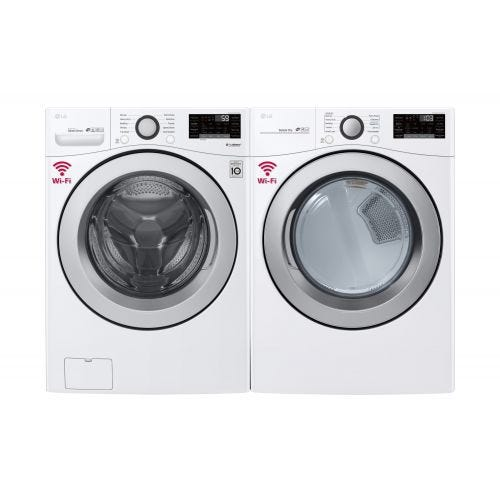 LG FRONT LOAD WASHER AND GAS DRYER SET 3500GA