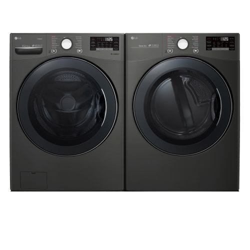 LG FRONT LOAD WASHER AND ELECTRIC DRYER SET 3800EL