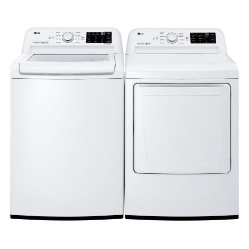 LG TOP LOAD WASHER AND ELECTRIC DRYER SET 7100EL