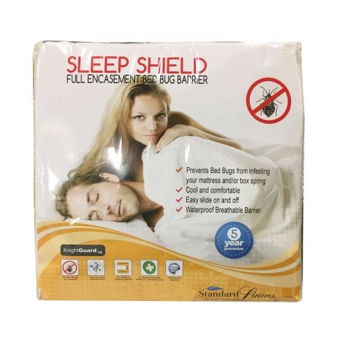 Sleep Shield Queen Mattress Encasement Bed Bug Bar