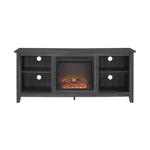 NIKO ELECTRIC FIREPLACE MEDIA CONSOLE - CHARCOAL