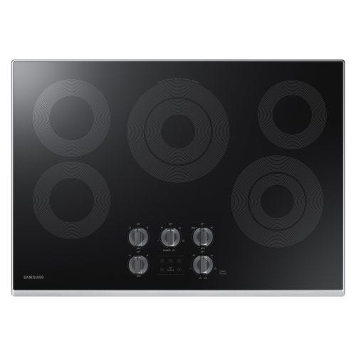 "Samsung Electric Cooktop with 6/9"" 3.3 kW Rapid Boil Burner, 9.5 kW NZ30K6330RS/AA"