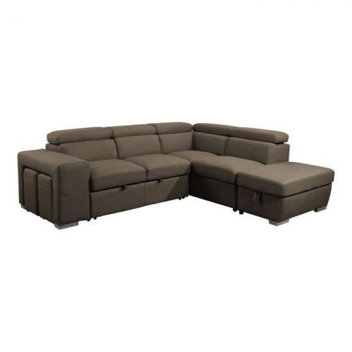 PAMINA 3PC POP-UP SECTIONAL BED W/STORAGE & STOOLS
