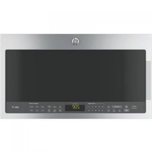 GE Profile STAINLESS STEEL 2.1 CUFT OVER THE RANGE MICROWAVE PVM2188SJC