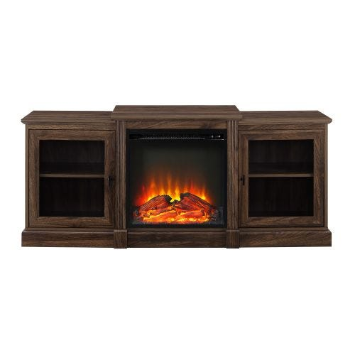 ROGER ELECTRIC FIREPLACE MEDIA CONSOLE - WALNUT