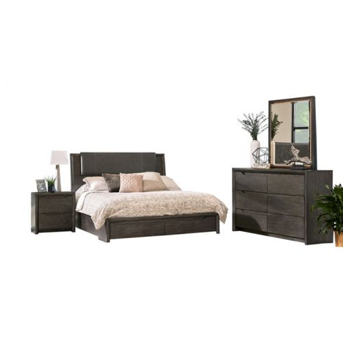 JAVA QUEEN 6 PC STORAGE BEDROOM SET