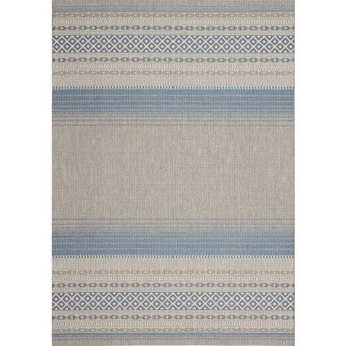 TERRA BLUE SCATTER OUTDOOR AREA RUG 7'10 X 10'6