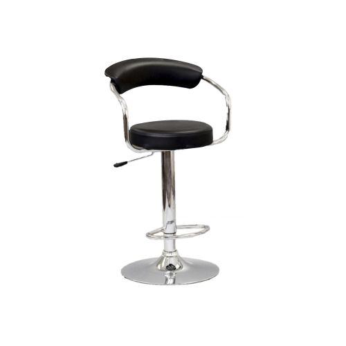 ADJUSTABLE HEIGHT BAR STOOL - BLACK
