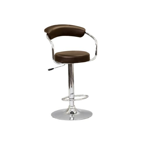 ADJUSTABLE HEIGHT BAR STOOL - BROWN