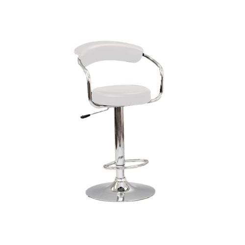 ADJUSTABLE HEIGHT BAR STOOL - WHITE