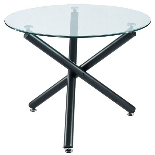 SUZETTE ROUND GLASS DINING TABLE