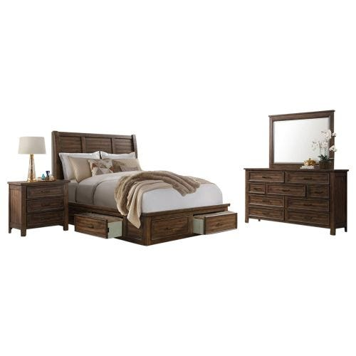SULLIVAN QUEEN 6 PC STORAGE BEDROOM SET