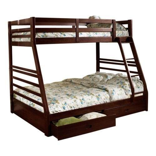 HOLMES TWIN OVER FULL BUNK BED - ESPRESSO
