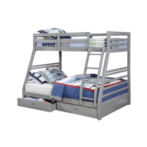 HOLMES TWIN OVER FULL BUNK BED - GREY