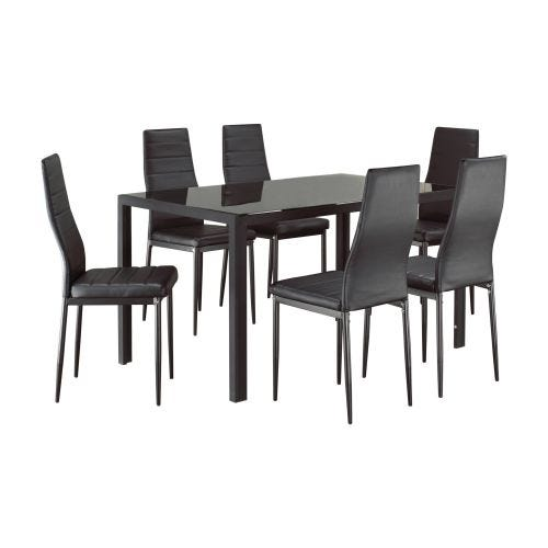 CONRAD 7 PC DINING SET - GLASS