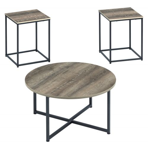 WADEWORTH COFFEE AND TWO END TABLES