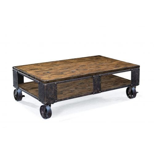 PINEBROOK COFFEE TABLE W/CASTERS