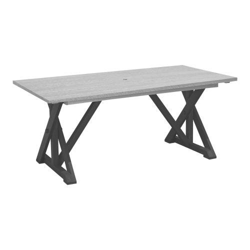 HARVEST HARVEST WIDE DINING TABLE - SLATE/LIGHT GR