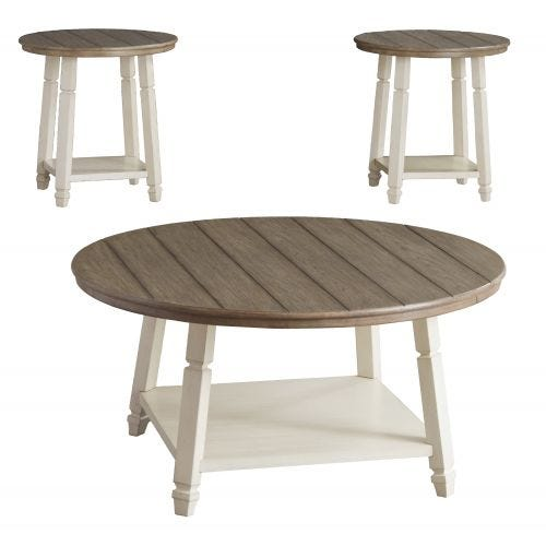 WILLOW COFFEE AND TWO END TABLES