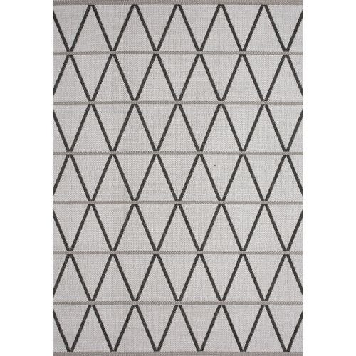 JASPER GREY TRELLIS OUTDOOR AREA RUG 5'3 X 7'7