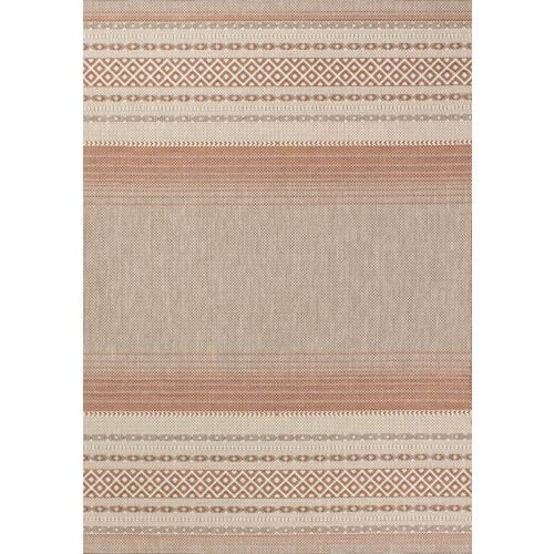 TERRA TERRACOTTA TRIBAL OUTDOOR AREA RUG 5'3 X 7'7