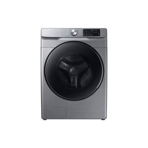 Samsung 5.2 cu. ft. Front Load Washer with Steam in Platinum WF45R6100AP/US