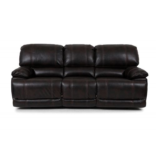 AARON II WALNUT RECLINING SOFA