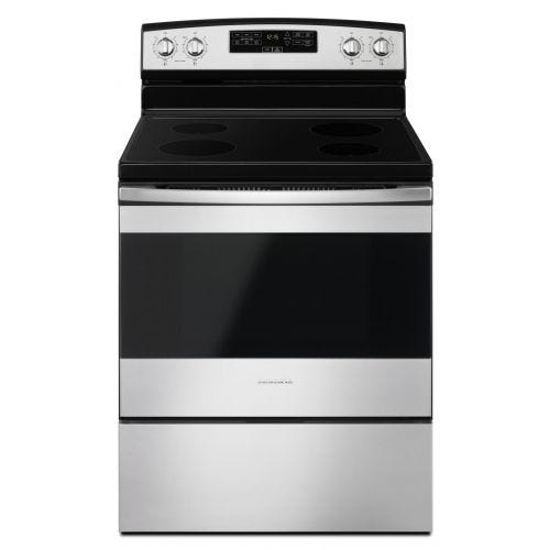 Amana 30-inch Electric Range with Extra-Large Oven Window YAER6303MFS