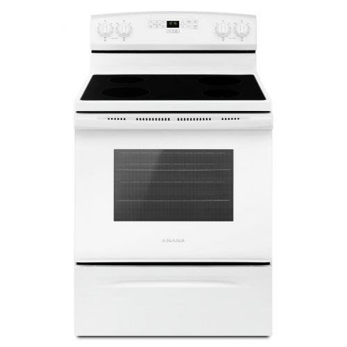 Amana 30-inch Electric Range with Extra-Large Oven Window YAER6303MFW