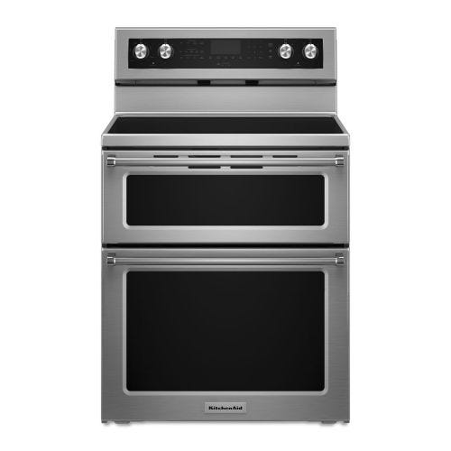 KitchenAid 30-Inch 5 elements Electric Double Oven Convection Range YKFED500ESS