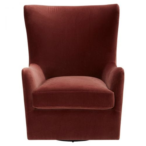 ZABI BURGUNDY GLIDER ACCENT CHAIR