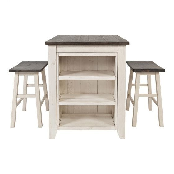 MADISON COUNTY 3 PC COUNTER HEIGHT SET - IVORY