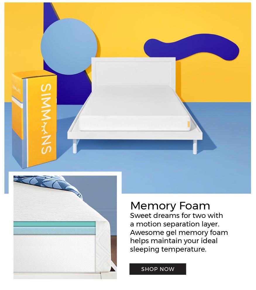 Gel memory foam Fun-zzz mattress option that helps maintain your ideal sleeping temperature.