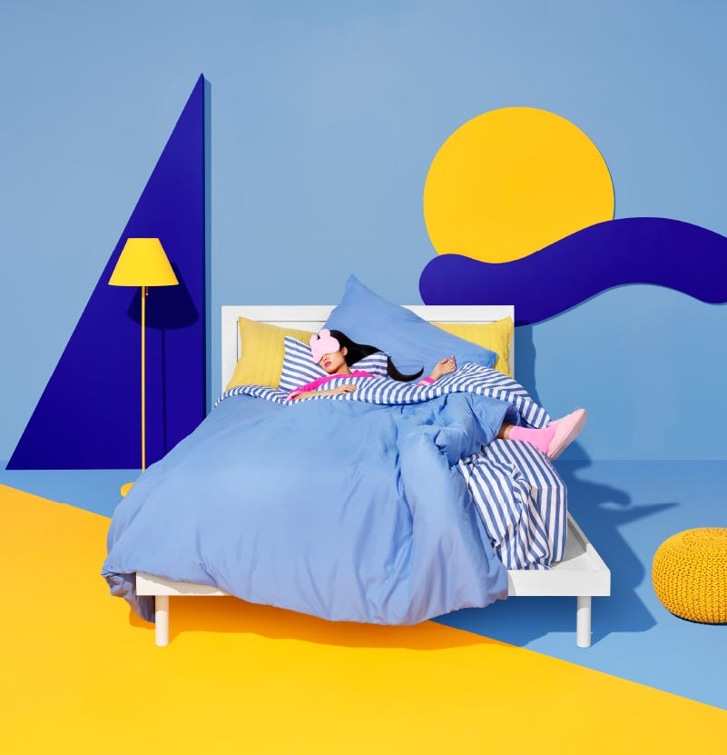 Women sleeping in bedroom on a Simmons Fun-zzz mattress